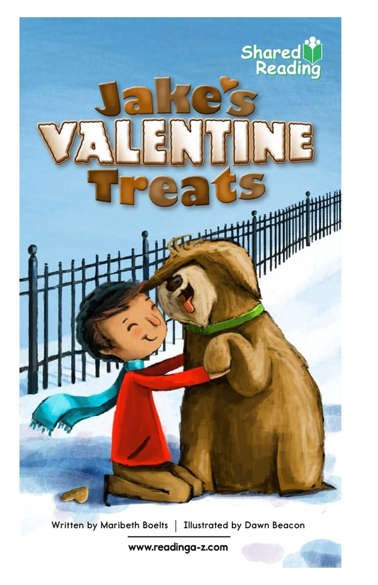 Book Preview For Jake's Valentine Treats Page 1