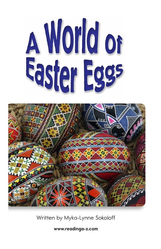 Book Preview For A World of Easter Eggs Page 2
