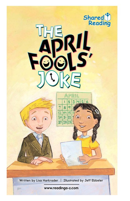 Book Preview For The April Fools' Joke Page 1