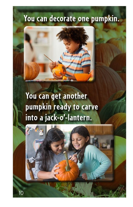Book Preview For From Pumpkin Seed to Jack-o'-Lantern Page 10