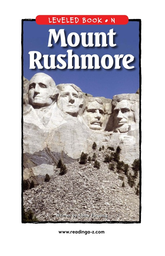 Book Preview For Mount Rushmore Page 1