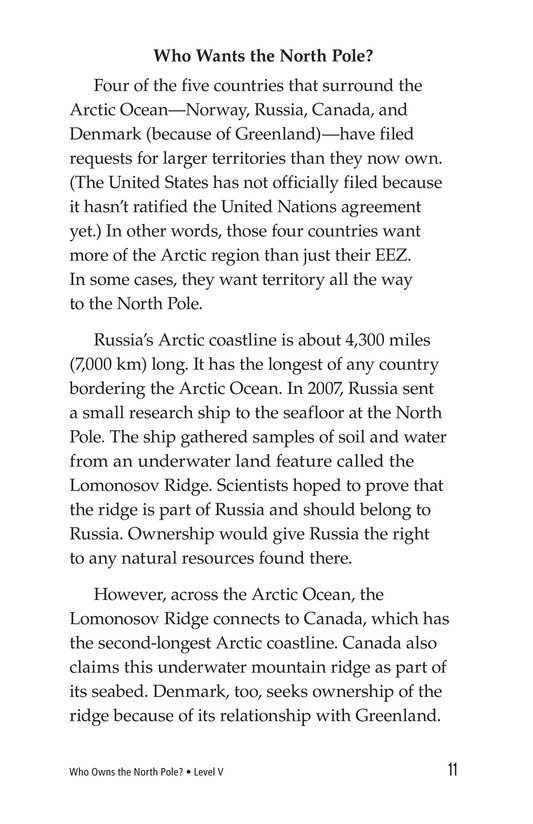 Book Preview For Who Owns the North Pole? Page 11