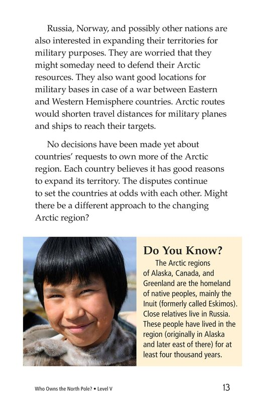 Book Preview For Who Owns the North Pole? Page 13