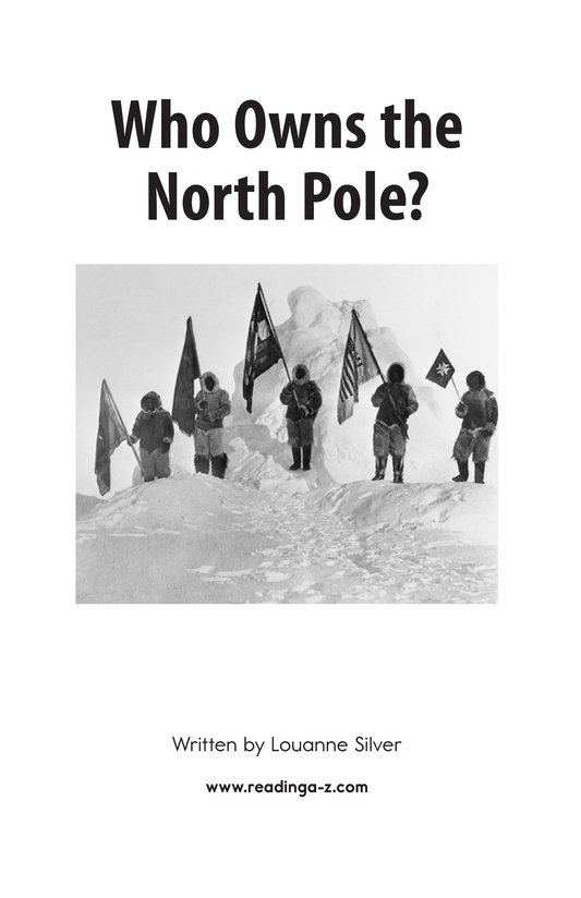Book Preview For Who Owns the North Pole? Page 2
