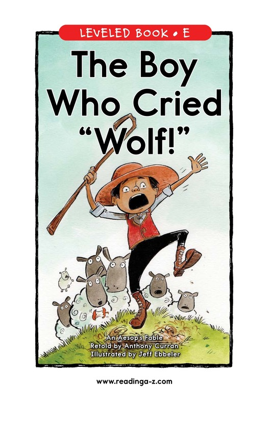 Book Preview For The Boy Who Cried