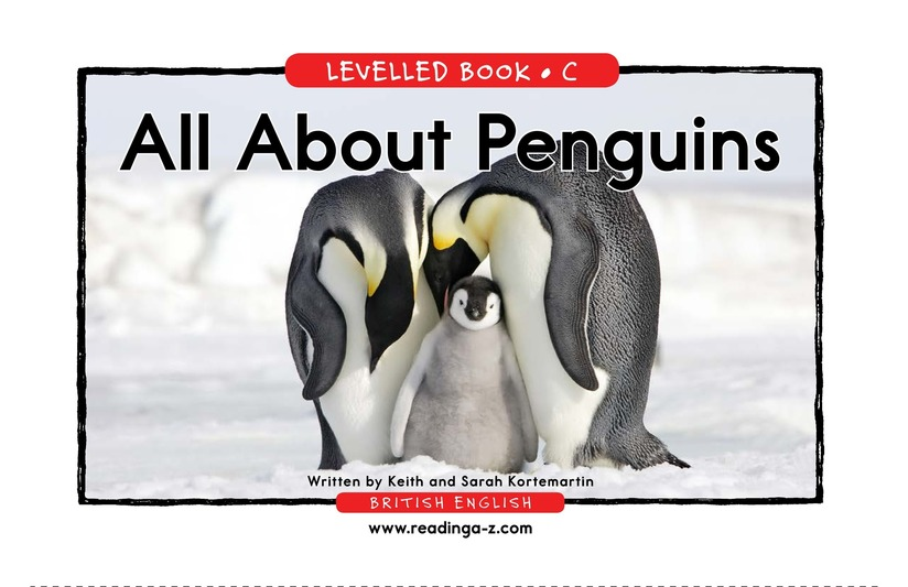 Book Preview For All About Penguins Page 1