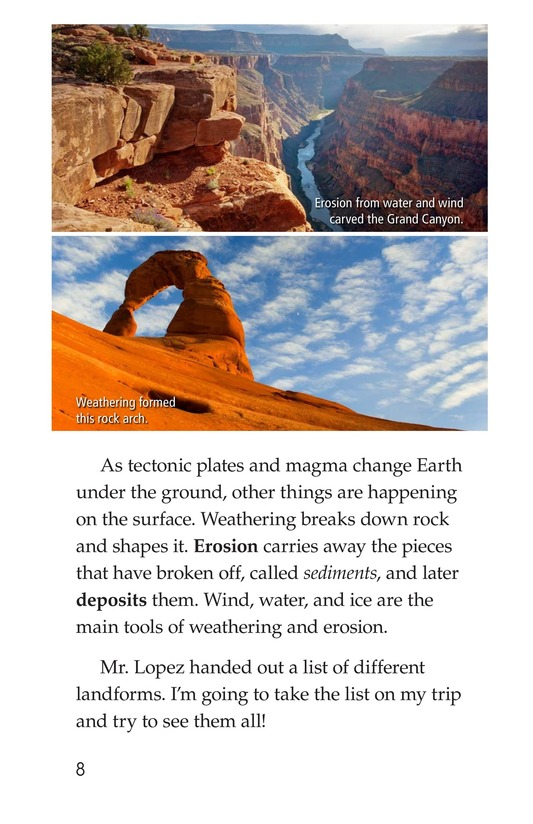 Book Preview For A Landforms Adventure Page 8