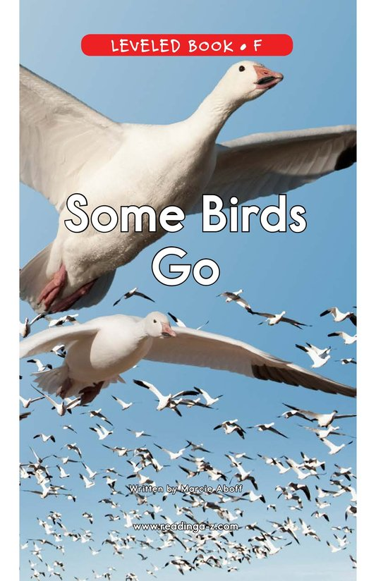 Book Preview For Some Birds Go Page 1