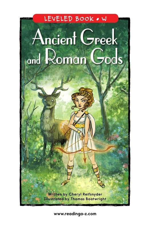 Book Preview For Ancient Greek and Roman Gods Page 0