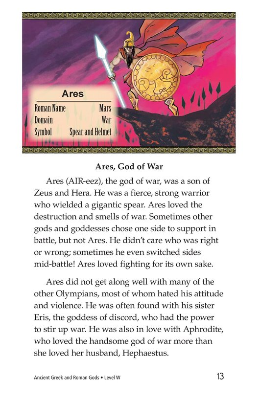 Book Preview For Ancient Greek and Roman Gods Page 13