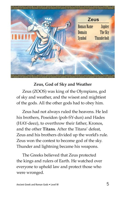 Book Preview For Ancient Greek and Roman Gods Page 5