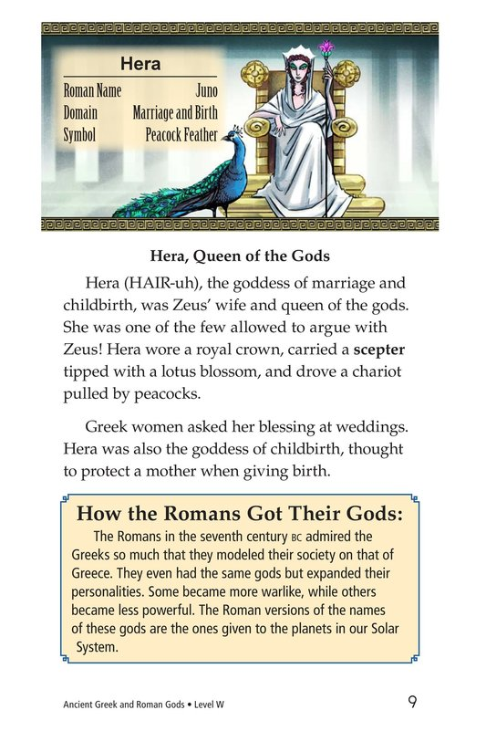 Book Preview For Ancient Greek and Roman Gods Page 9