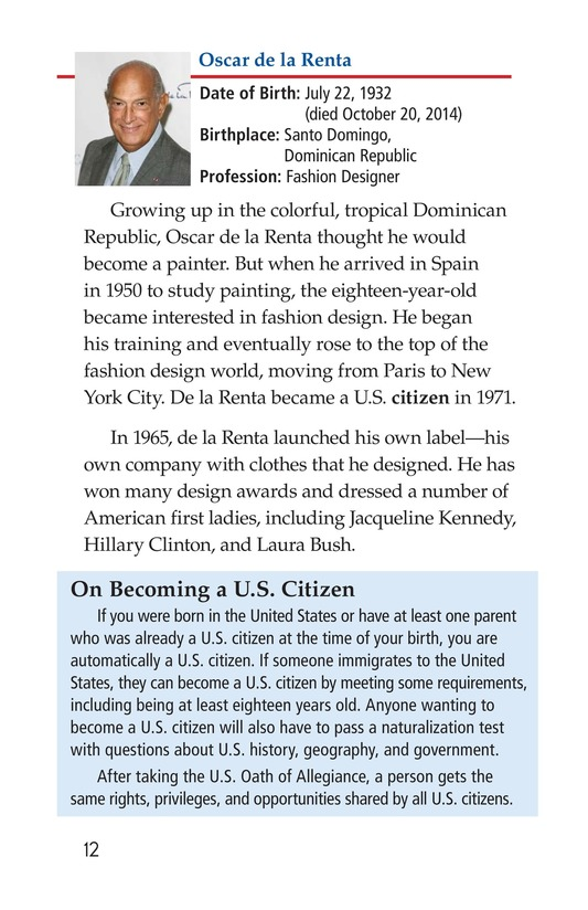 Book Preview For Famous Hispanic Americans: A Proud Heritage Page 12