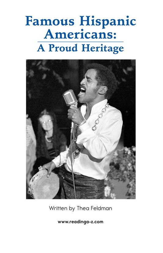Book Preview For Famous Hispanic Americans: A Proud Heritage Page 2