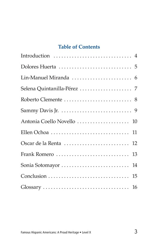 Book Preview For Famous Hispanic Americans: A Proud Heritage Page 3
