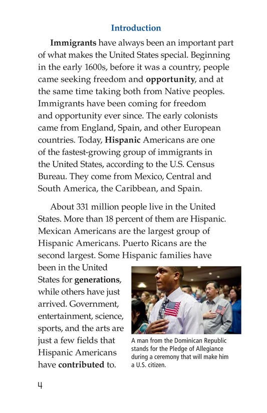 Book Preview For Famous Hispanic Americans: A Proud Heritage Page 4