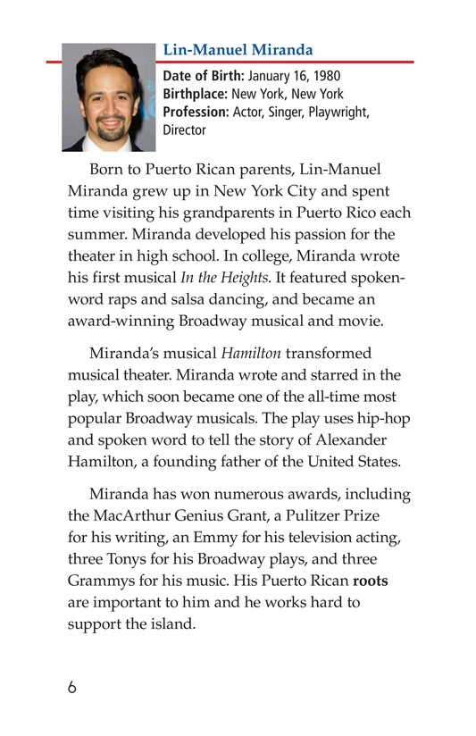 Book Preview For Famous Hispanic Americans: A Proud Heritage Page 6