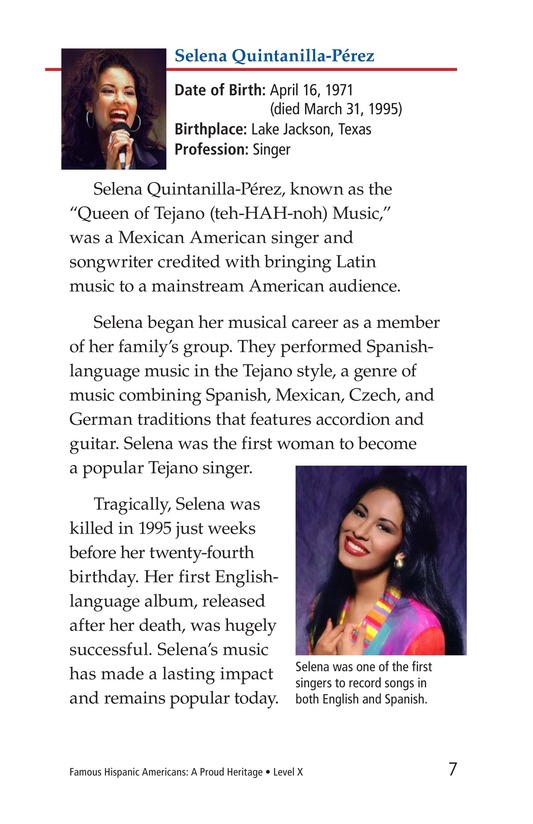 Book Preview For Famous Hispanic Americans: A Proud Heritage Page 7