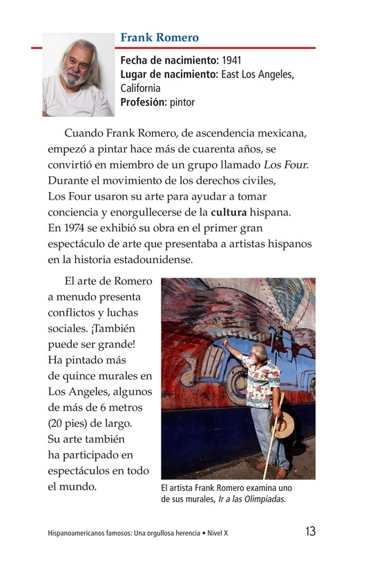 Book Preview For Famous Hispanic Americans: A Proud Heritage Page 13