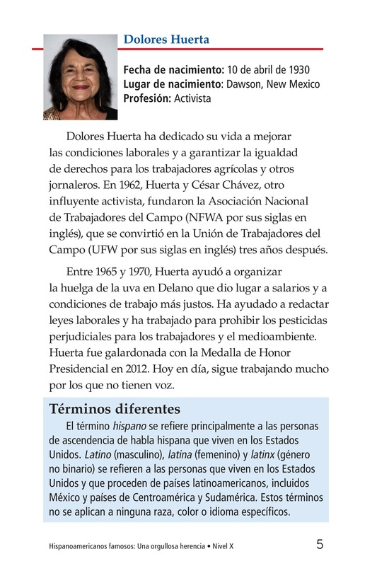 Book Preview For Famous Hispanic Americans: A Proud Heritage Page 5