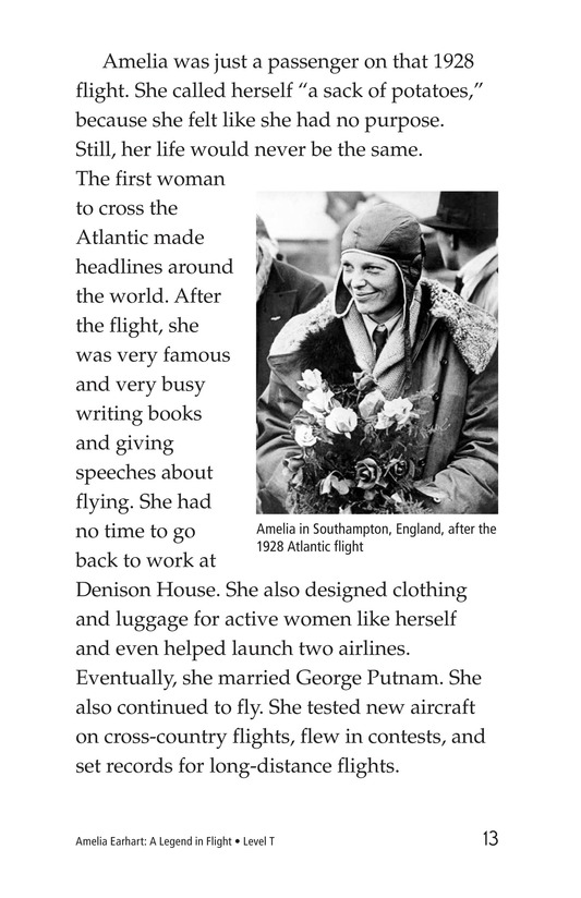 Book Preview For Amelia Earhart: A Legend in Flight Page 13