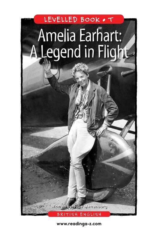 Book Preview For Amelia Earhart: A Legend in Flight Page 1
