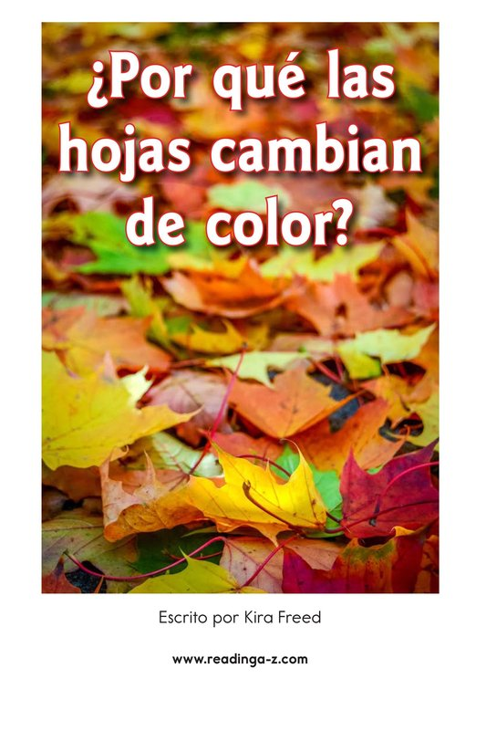 Book Preview For Why Do Leaves Change Color? Page 2
