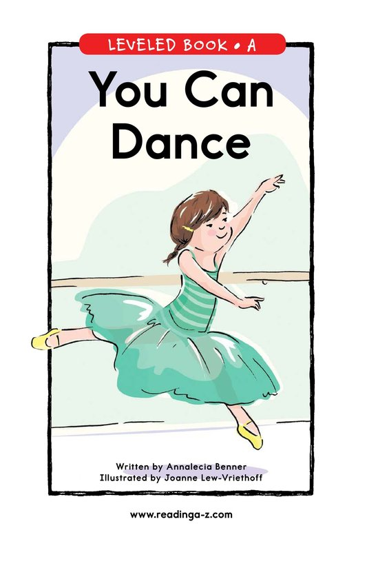 Book Preview For You Can Dance Page 1