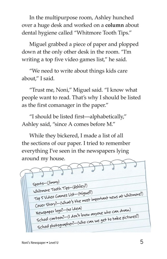 Book Preview For Noni's Newspaper Page 5