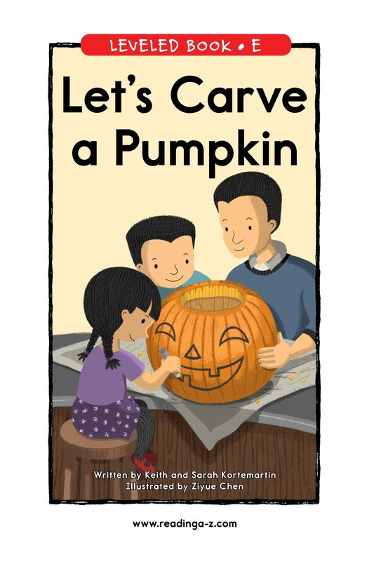 Book Preview For Let's Carve a Pumpkin Page 1