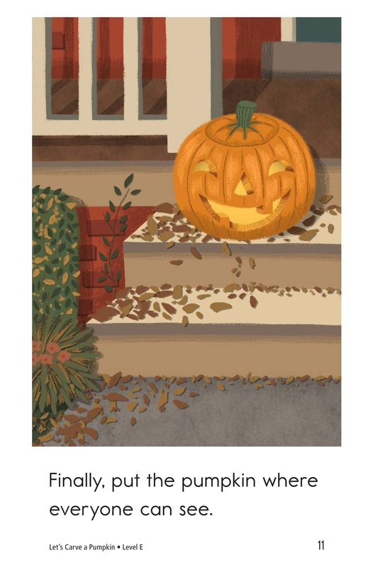 Book Preview For Let's Carve a Pumpkin Page 11