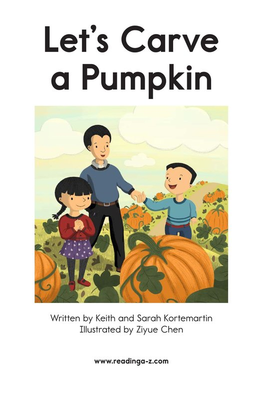 Book Preview For Let's Carve a Pumpkin Page 2
