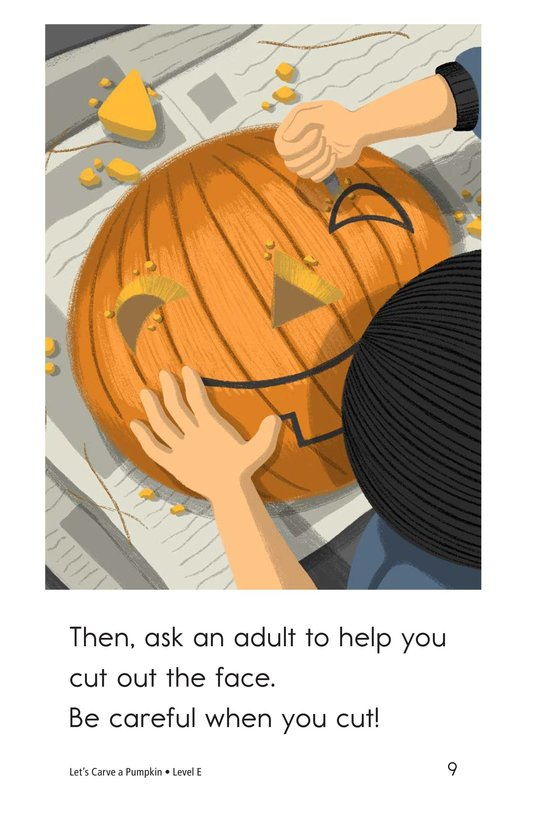 Book Preview For Let's Carve a Pumpkin Page 9