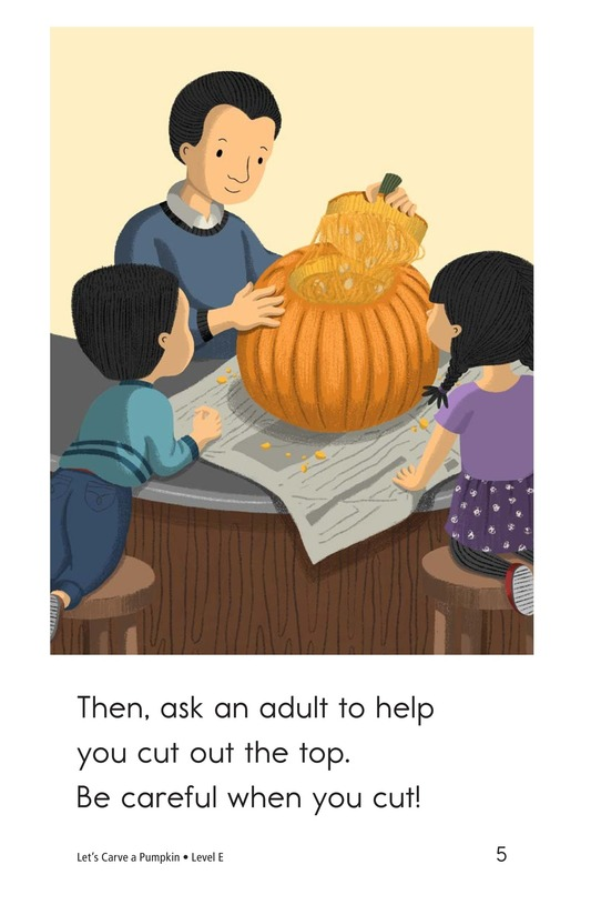 Book Preview For Let's Carve a Pumpkin Page 5