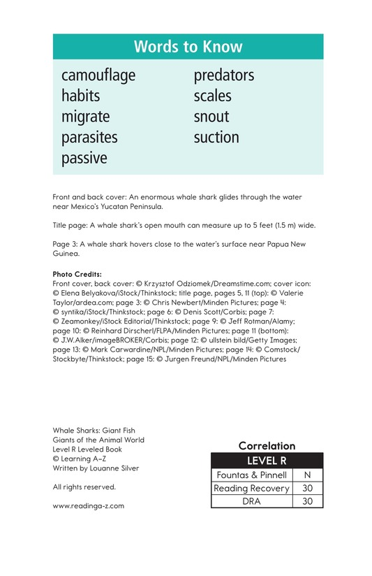 Book Preview For Whale Sharks: Giant Fish Page 2