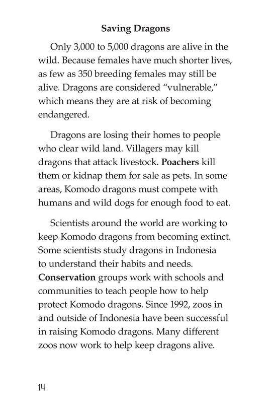 Book Preview For Komodo Dragons: Giant Reptiles Page 14
