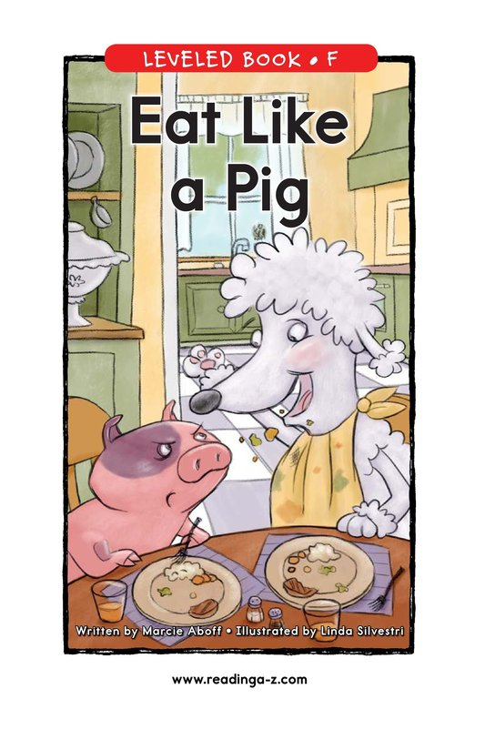 Book Preview For Eat Like a Pig Page 1