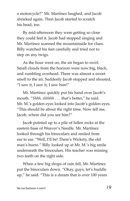 Book Preview For The Lost Dutchman Page 19