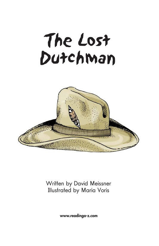 Book Preview For The Lost Dutchman Page 2