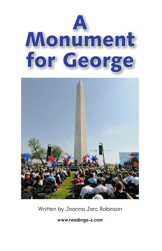 Book Preview For A Monument for George Page 2