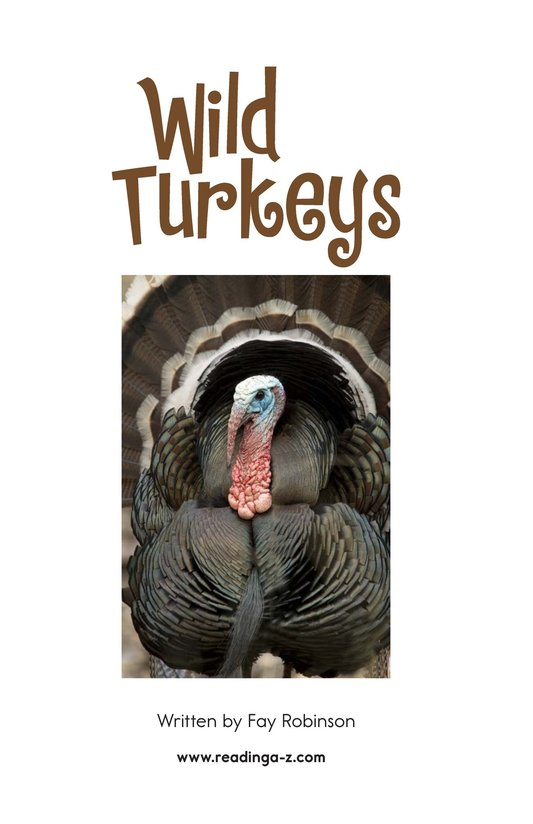 Book Preview For Wild Turkeys Page 2