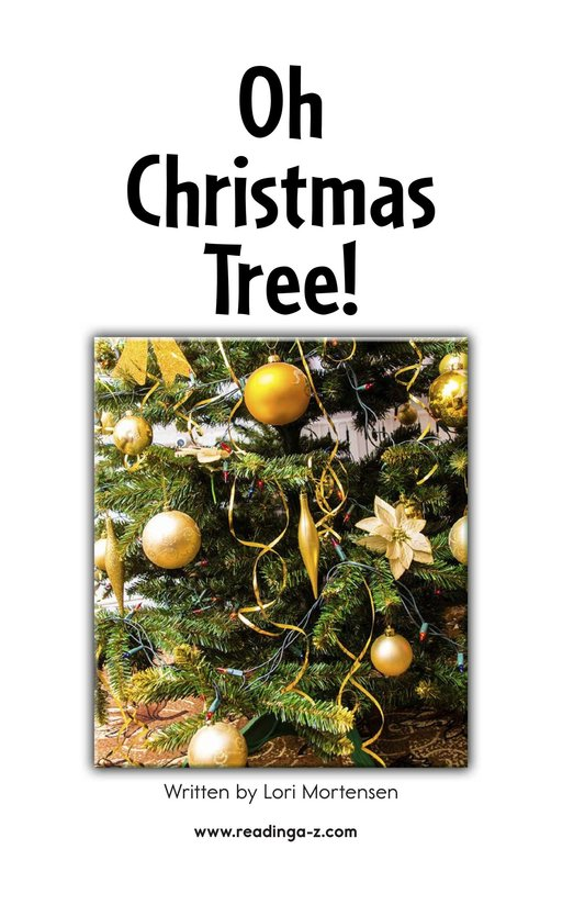 Book Preview For Oh Christmas Tree! Page 2
