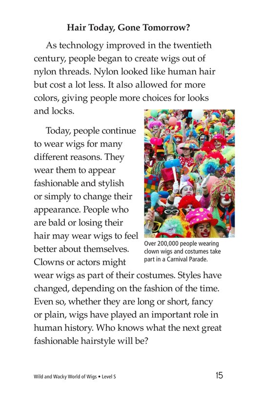 Book Preview For Wild and Wacky World of Wigs Page 15