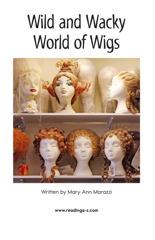 Book Preview For Wild and Wacky World of Wigs Page 2