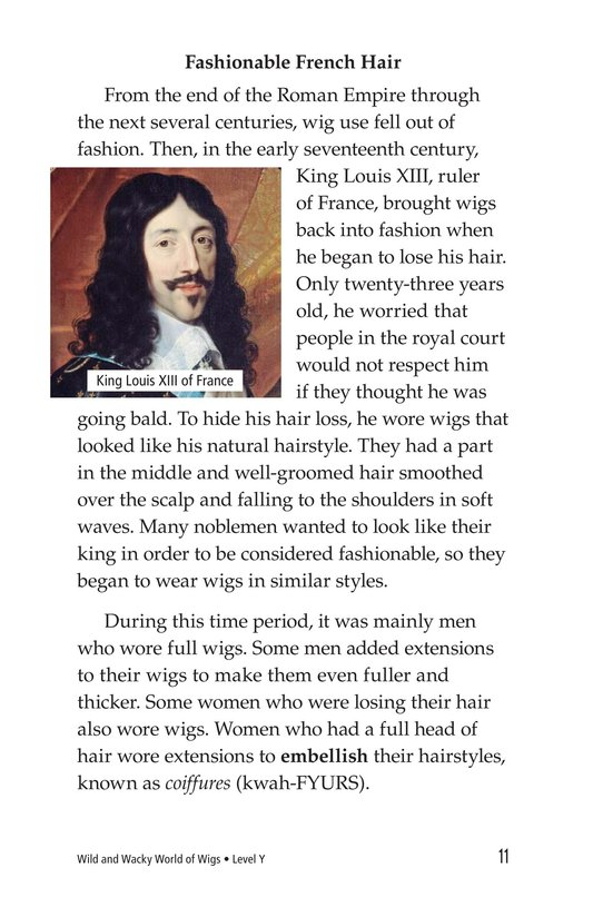 Book Preview For Wild and Wacky World of Wigs Page 11