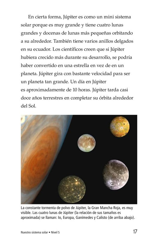 Book Preview For Our Solar System Page 17