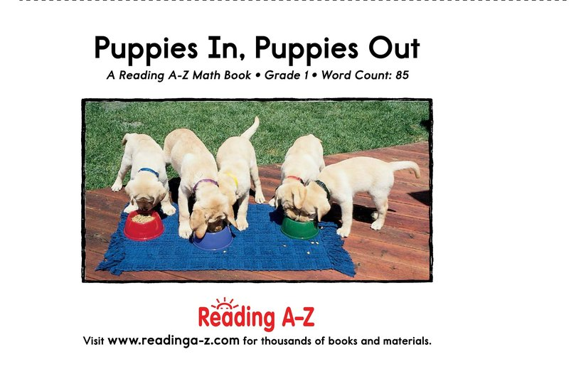 Book Preview For Puppies In, Puppies Out Page 13