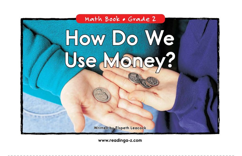 Book Preview For How Do We Use Money? Page 0