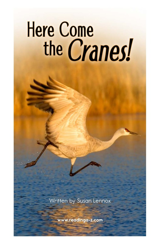 Book Preview For Here Come the Cranes! Page 2