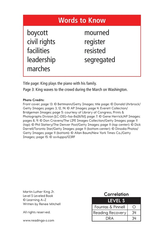 Book Preview For Martin Luther King, Jr. Page 2